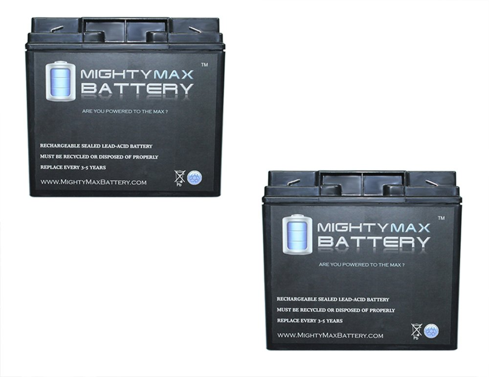 12V 18AH F2 SLA Replacement Battery for Sola 57400 - 2 Pack - Mighty Max Battery brand product