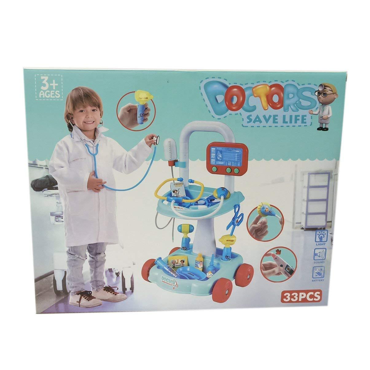 JullyeDEgant Krankenhaus Kinder Spielzeug Kit Pretend Play Arzt Spielzeug fü r Kinder Rollenspiel Klassisches Spielzeug