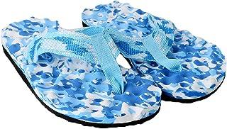 Dabixx Femme Summer Beach Chaussons Tongs Chaussures Sandales Chausson Intérieur ou extérieur Camouflage Violet 40, EVA, Camouflage/Bleu, 38