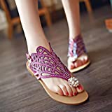 HIRIRI Vintage Women Rhinestone Flat Heel Anti