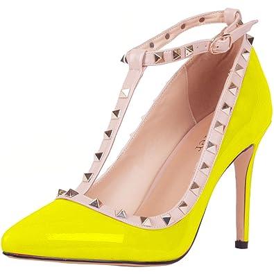 Zapatos naranjas formales Calaier para mujer dAD5eOD