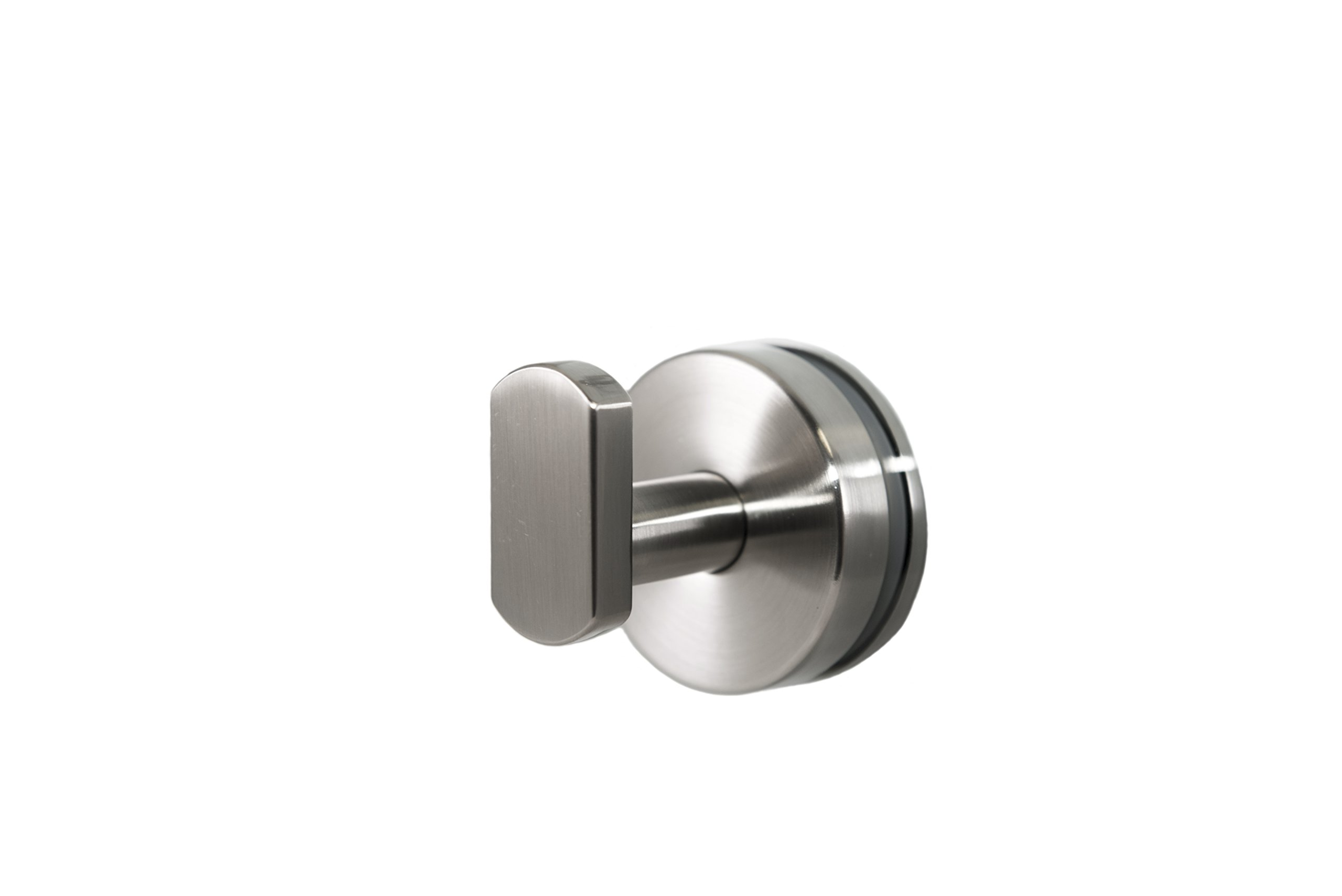 Preferred Bath Accessories 2000-BN-GM ANELLO Collection Robe Hook Glass Mounted, Brushed Nickel