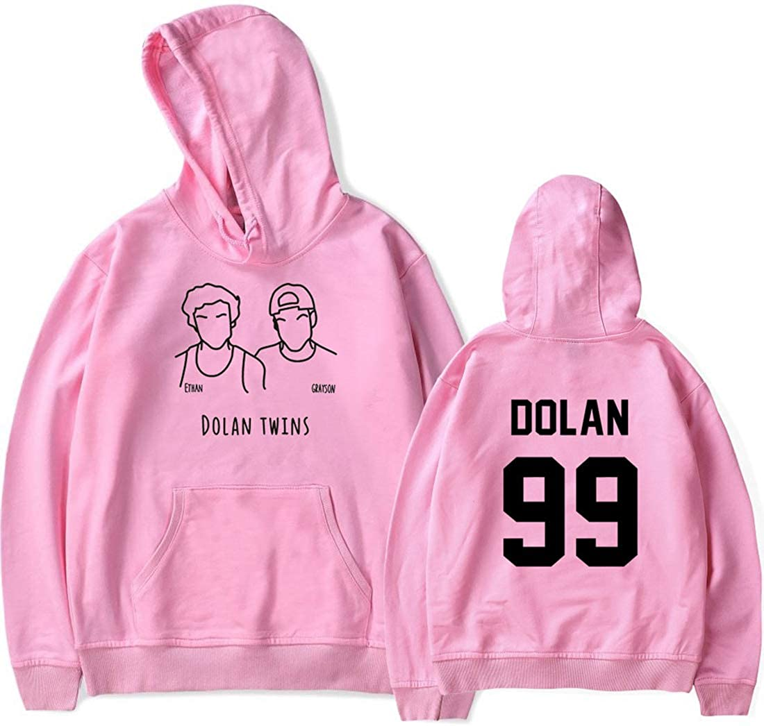 Eudolah Newly Arrival Boys Fashion Dolan Twins Long Sleeve Hoodie Ethan Grayson Printed Casual Outerwear Pullover