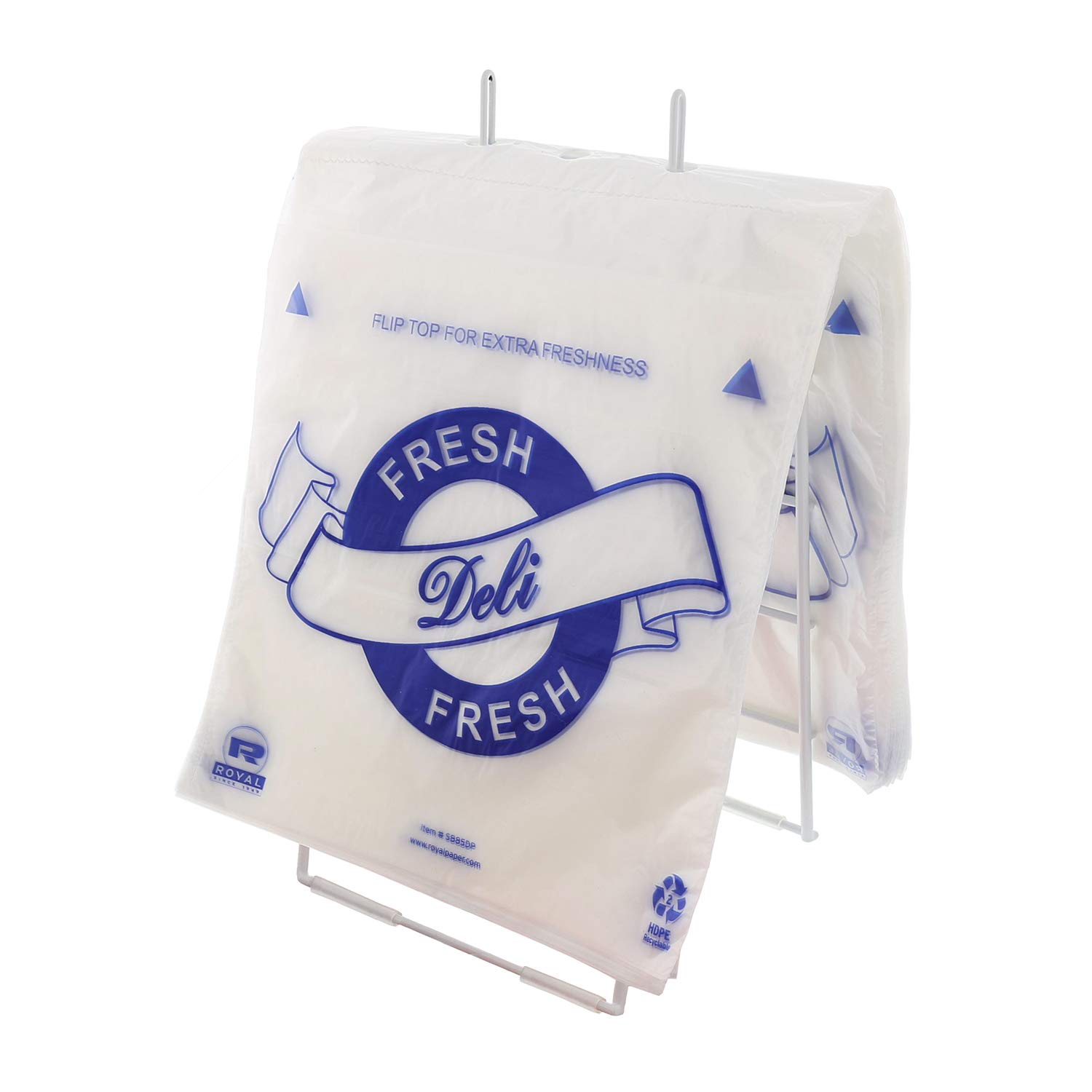 Royal High Density Printed Deli Saddle Bags, 8.5 Inch X 8.5 Inch, Package of 2000