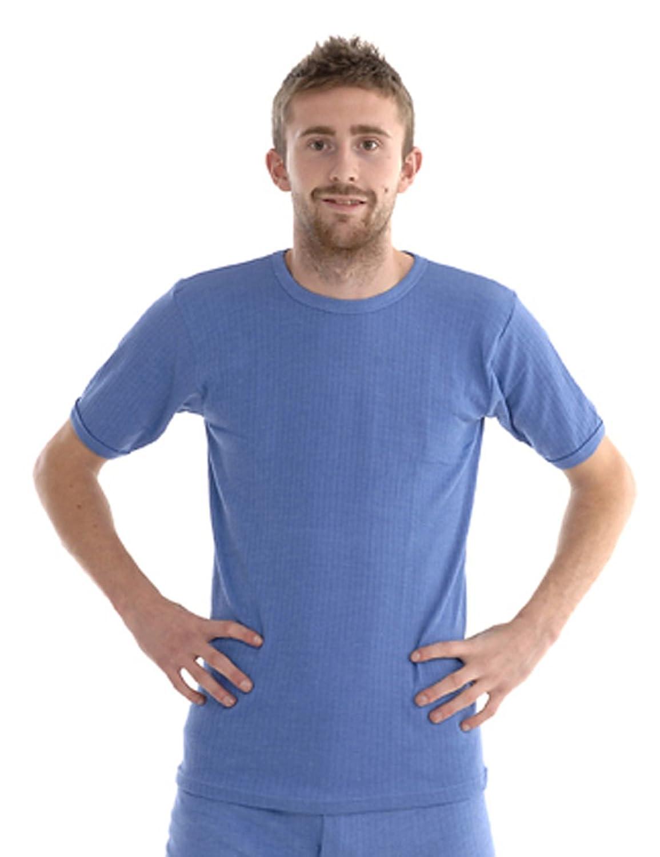 Gaffer - Herren & Jungen Thermo Lange Unterhosen, T-Shirt Unterhemd, Passend Für Winter, Außenarbeit, Reise Camping & Ski - XXL, T-Shirt - Blau