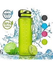 Nasharia Sport Trinkflasche - 1L, BPA Frei Auslaufsicher Sport Wasserflasche Ideal für Outdoor, Fahrrad, Fitness, Camping, Schule, Büro usw.