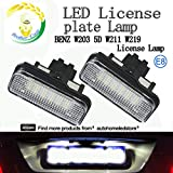 2pc x Mercedes W203 5D Wagon W211 W219 Error Free(DC 12V) White 3528SMD LED License Plate Lights with E8 certificate