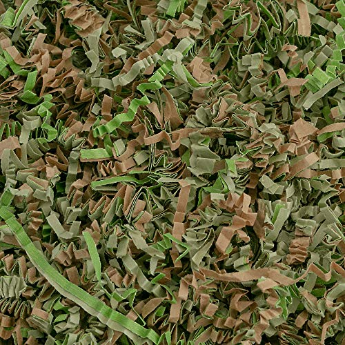 Crinkle Cut Paper Shred Filler (1 LB) for Gift Wrapping & Basket Filling - Camo | MagicWater Supply ()
