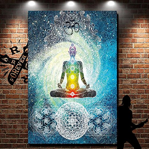 PYHQ Buddha Mandala Tapestry Hanging Blanket Wall Art Urban Bohemia Boho Bedsheet Tablecloth Beach Cover Throws Cushion Beach Cover Curtain TWIN QUEEN Size 80x60