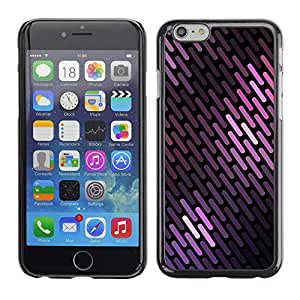 Rubber Case Hard Shell Cover Protective Accessory BY RAYDREAMMM - Apple iPhone 6 - Lines Pattern Black Scales