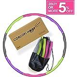 CORCOPI フラフープ 子供大人兼用 組み立て式 8本組 8色 収納袋バッグ付