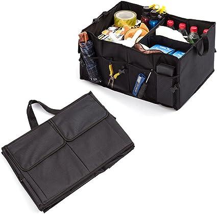 Amazon.es: Amaoma Plegable Caja de Almacenamiento de Coche, Caja Plegable Multiusos Organizador Maletero Organizador Coche para Automóvil, SUV, Minivan, Camión, Viajes Camping 56 x 40 x 26cm (Negro)