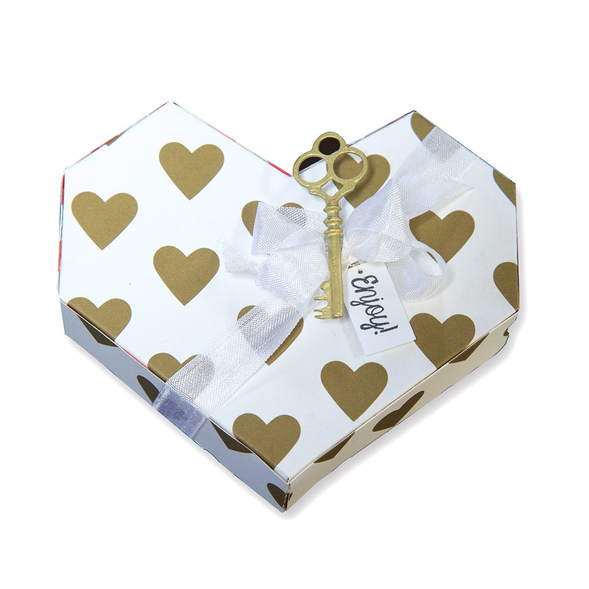 Amazon com: Spellbinders Geo-Heart Box Contour Steel Rule Die