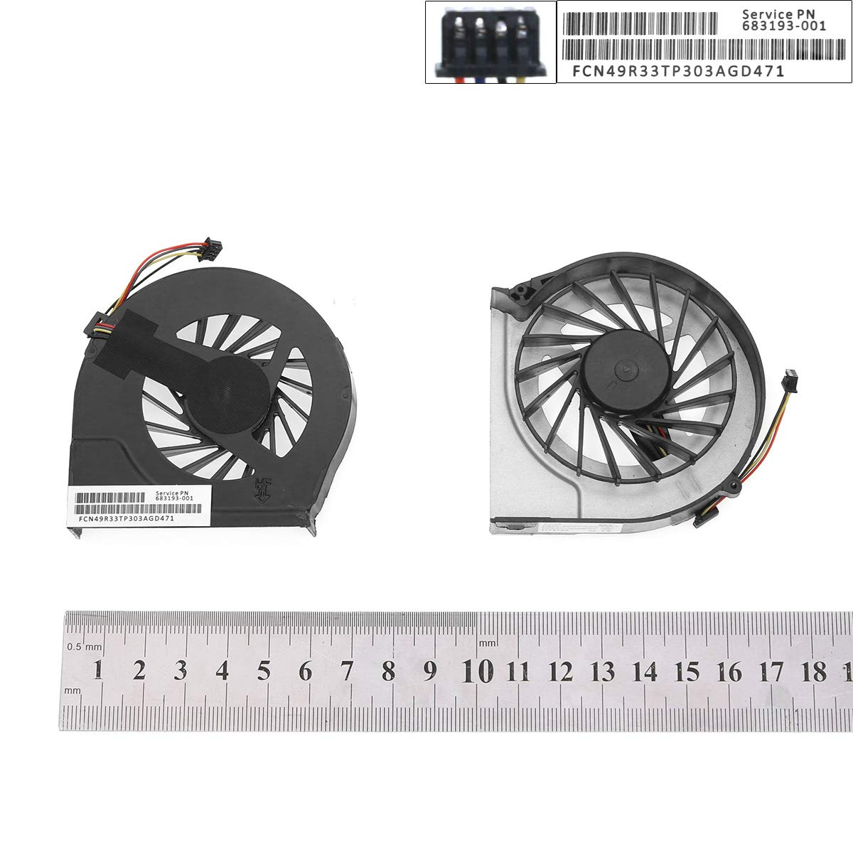 New Laptop Cooling Fan CPU Compatible with Hp G4-2000 G6-2000 G7-2000(4 Pins,Original)