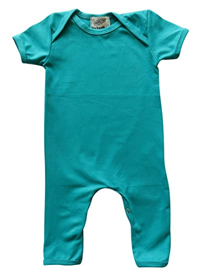 6c1b9d7da232 Amazon.com  Teal Baby Romper for Boys and Girls  Clothing