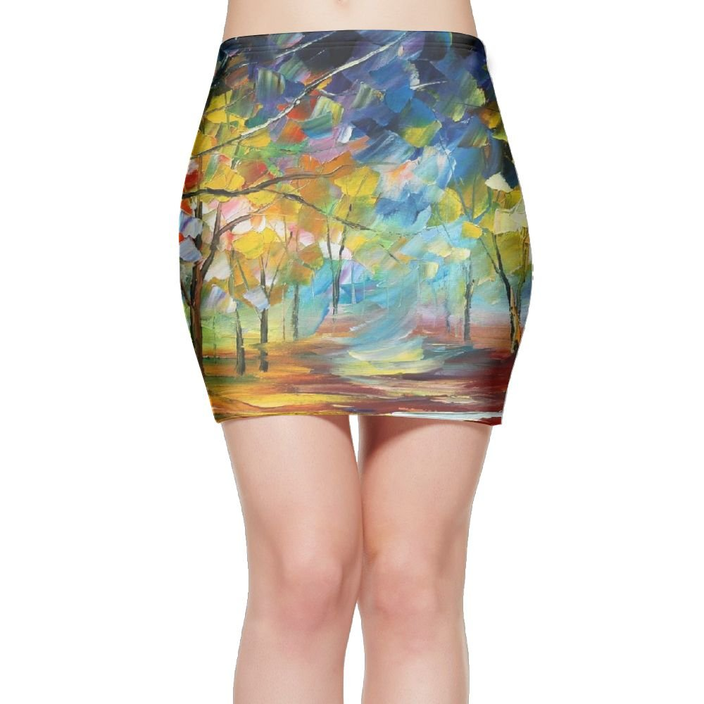 Women's Basic Stretch Mini Skirt - Tree of Life Fine Art Print