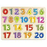 Imagination Generation Professor Poplar's Wooden Numbers Puzzle Board - Learn to Count with Colorful Chunky Numbers