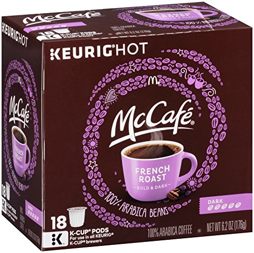 McCafe French Roast Keurig K Cup Coffee Pods (18 Count) (K Cups Best Price)