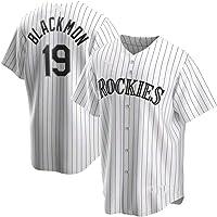 GMRZ Camiseta MLB Hombre, Beisbol Jersey con Colorado Rockies # 19 Blackmon Diseño Logo Ropa Deportiva Equipo De Béisbol…