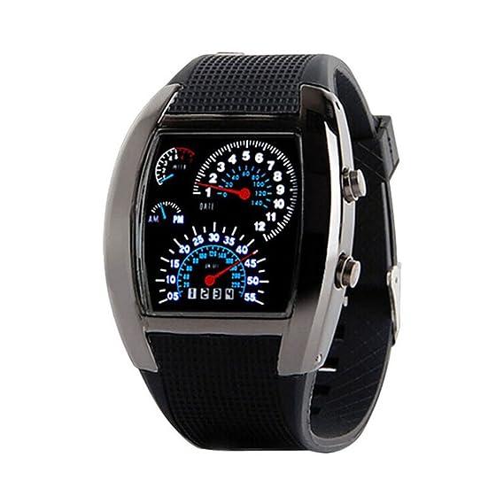 fenkoo Hombres del reloj deportes velocímetro estilo LED Digital: Amazon.es: Relojes