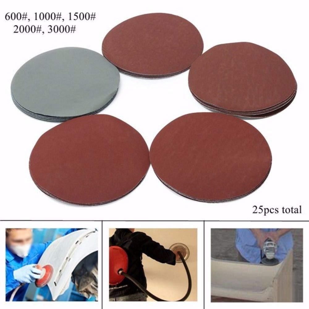 """3/"""" x 5 1//2/"""" Wet Dry Sandpaper Sanding Paper Abrasive 600//1000//1500//2000 Grit"""