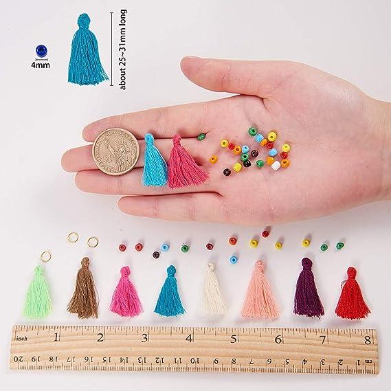 75.5 mm SUNNYCLUE DIY 4 Sets Collar de /Árbol de la Vida de 30 Pulgadas con Chip Gemstone Bead Colgante Kit de Fabricaci/ón de Joyas Suministros Mujeres Adultos Principiantes