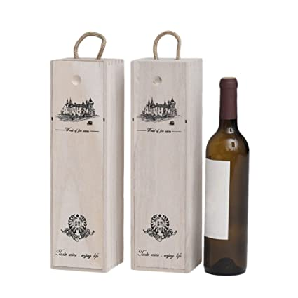 Single Bottle Wooden Luxury Gift Box For Wine Champagne Or Lafite Whisky