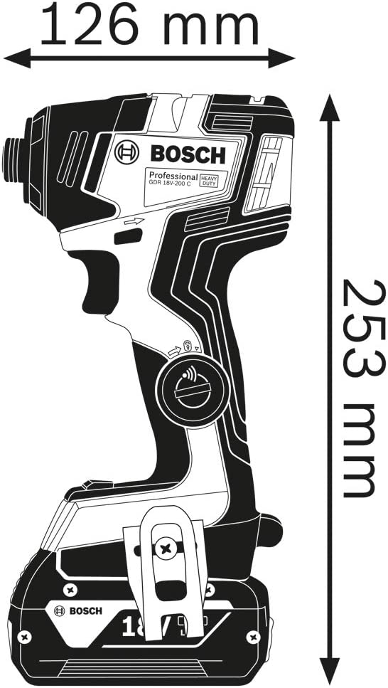 avec 2 Batteries GBA 18V 4.0Ah + Chargeur GAL 18V-40, dans L-BOXX Bleu Bosch 06019J2102 18V System Set de Visseuses sans-Fil GDR 18V-200 et GSB 18V-55