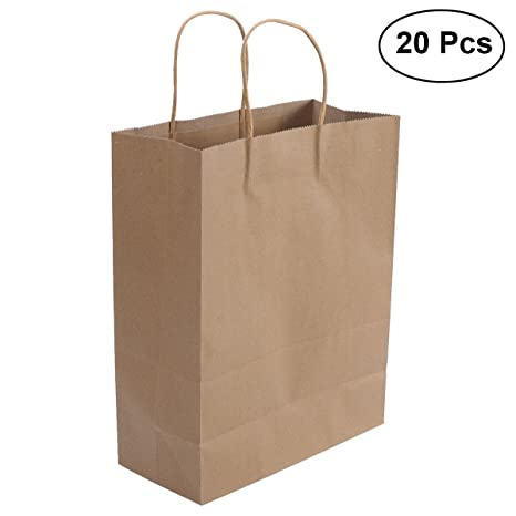 Amazon.es: YeahiBaby 2 UNIDS Kraft Paper Party Gift Bolsa de ...
