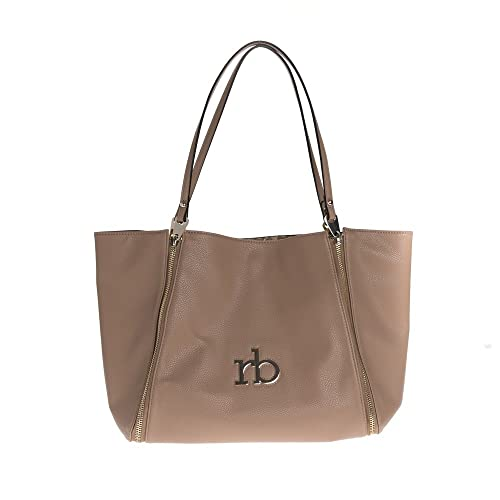 Rocco Barocco BORSA DONNA ROCCOBAROCCO SHOPPING BAG REVERSIBILE INAS BEIGE  MULTI 118  Amazon.it  Scarpe e borse 732885e88e9