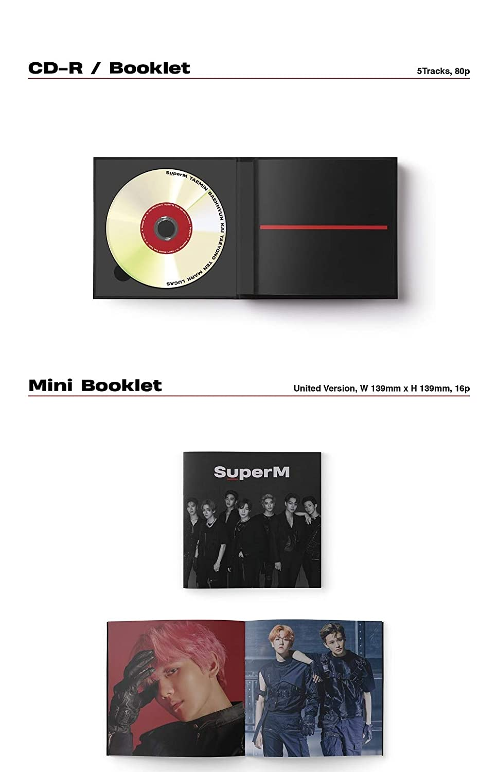 Baekhyun Ver. SuperM Album+Extra Photocards Set 1st Mini Album SuperM Korean Edition