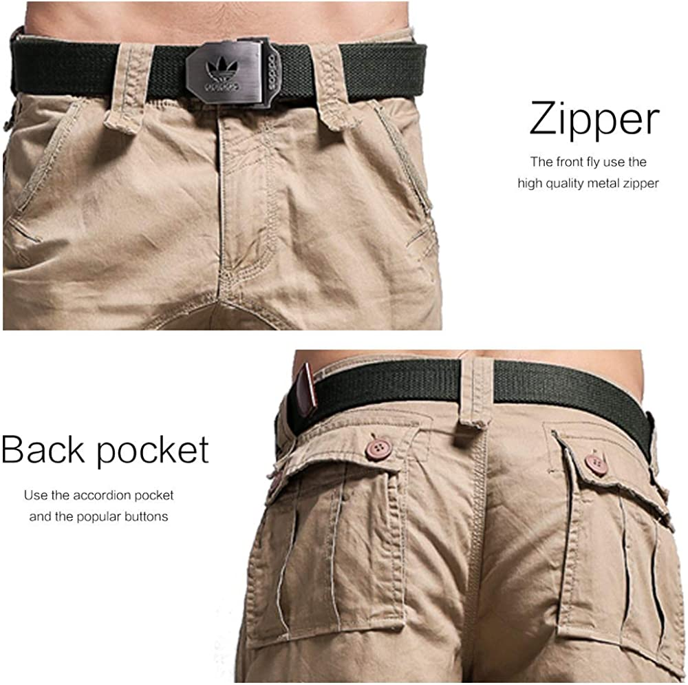 MOTOR CASUAL Mens Cargo Shorts Twill Classic Loose Relaxed Fit Multi Pocket Cotton Short Pants Outdoor