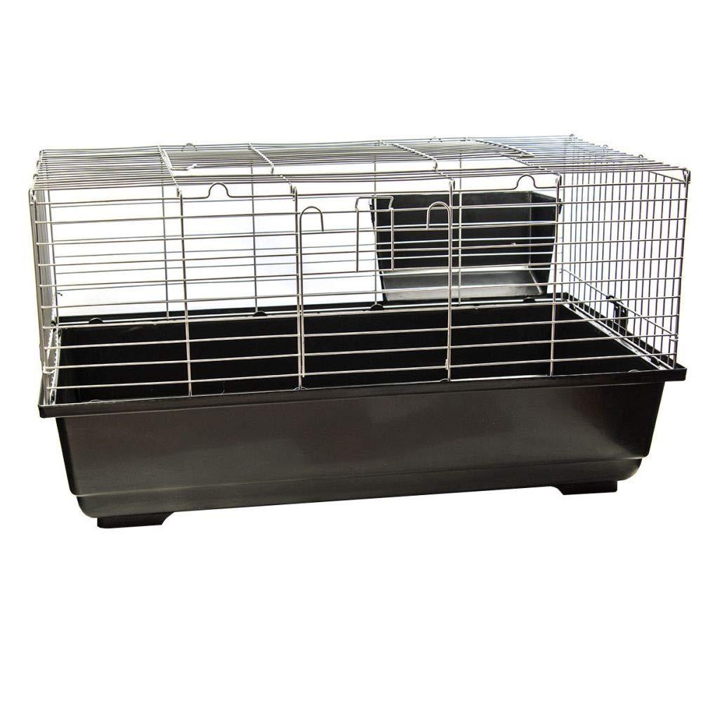 Dark Grey SINGLE LEVEL INDOOR RABBIT CAGE SMALL ANIMAL PET HOME RAT GUINEA PIG HUTCH HOUSE