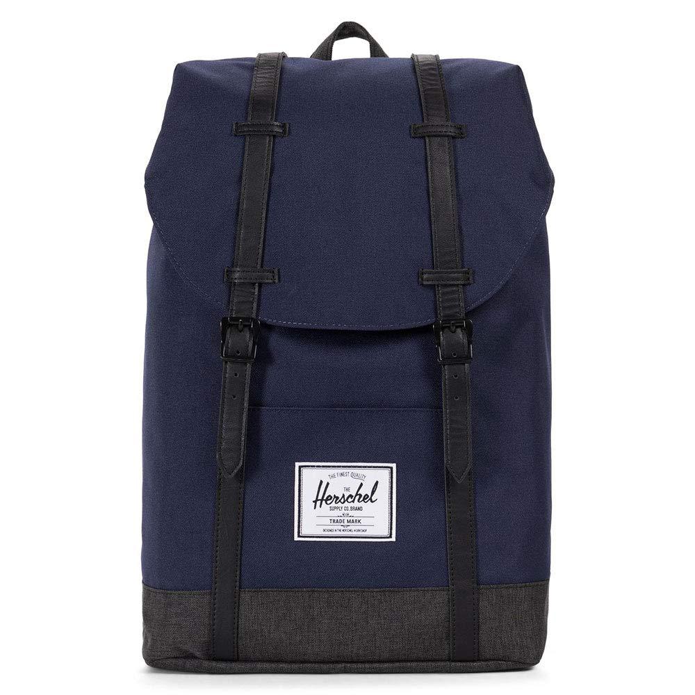 Herschel Supply Co. Retreat Backpack, Peacoat/Black Crosshatch, One Size