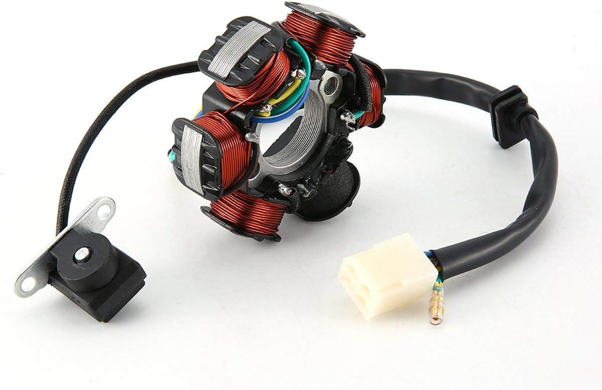 multicolore YUIO/® Moto 6 bobines Wire Wave AC Magneto Stator G/én/érateur de bobine pour 50cc 70cc 90cc 100cc 110cc 125cc Dirt Bike