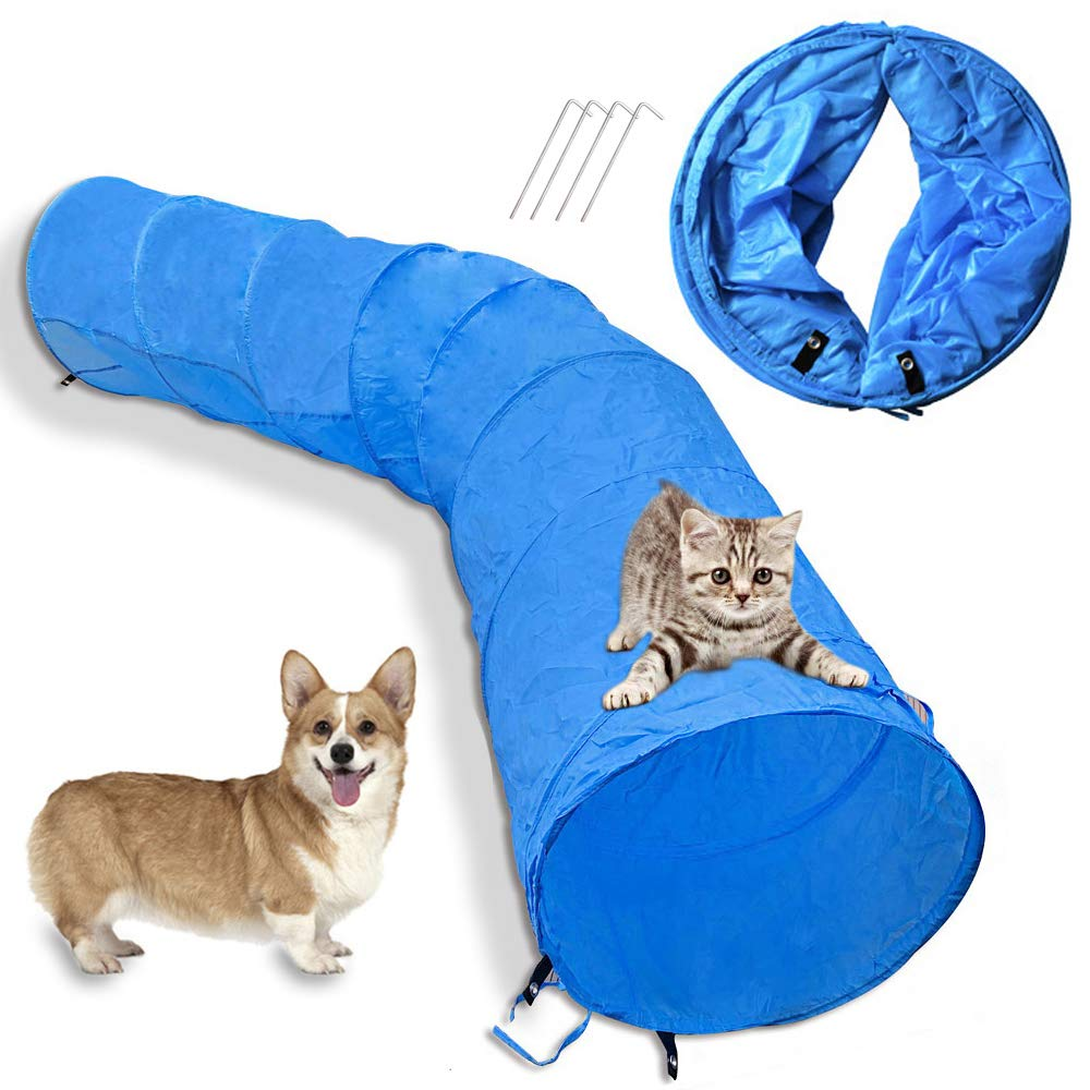 Cossy Home Collapsible Cat Tunnel Tube Kitty Tunnel Pet Toys Peek Hole for Cats, Puppy, Dogs, Kittens, Rabbits (2 Size) (79inch) by Cossy Home