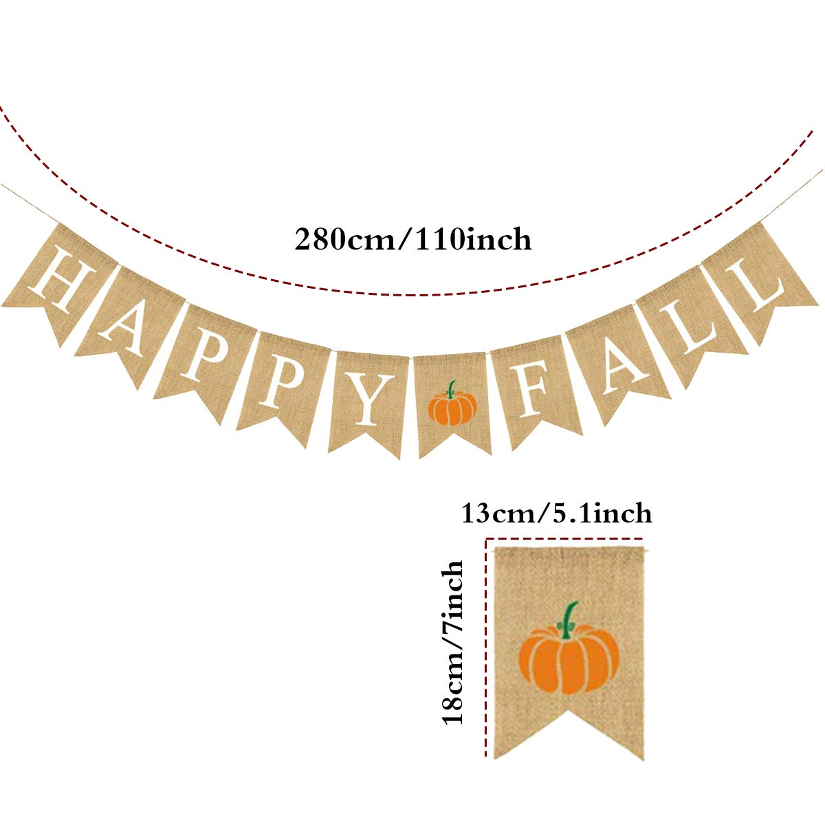 Happy Fall Banner Thanksgiving Bunting Banner Give Thanks Party Decoration Fall Pumpkin Party Decorations Happy Thanksgiving