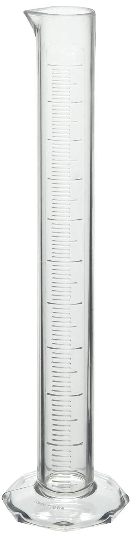 Bel-Art 1000ml Clear TPX Graduated Cylinder; 10.0ml Graduation (F28696-0000)