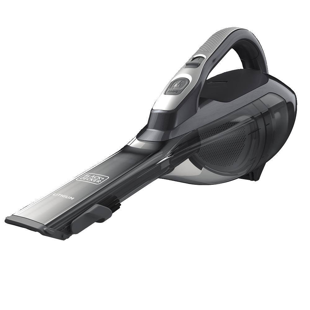 BLACK+DECKER 12V Max HLVA325BS21 Lithium Hand Vacuum + Charging Base and Scent Charger, Titanium