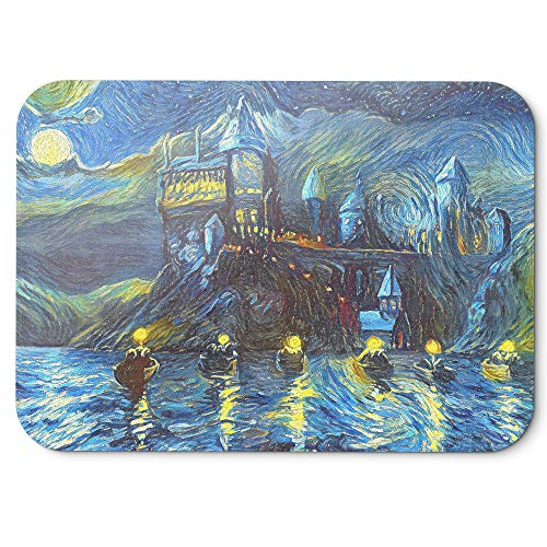 Westlake Art - Starry Night Castle Night Boats - Mouse Pad - Non-Slip Rubber Abstract Artwork Home Office Computer Laptop PC Mac - 8x9 inch (36D4F)