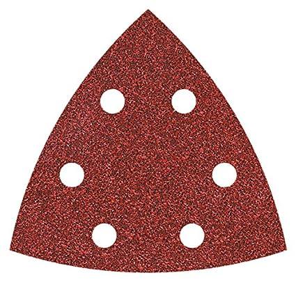 Perf corind/ón Grano 120 Set de 25 Piezas 120-Grit Wolfcraft 1853100 1853100-25 Hojas de esmerilar Adhesivas