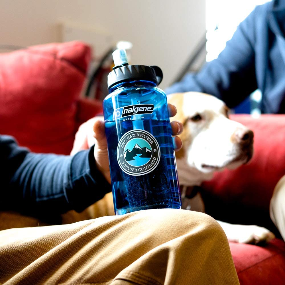 Wide Mouth 32 oz Epic Nalgene OG USA Made Filter Removes 99.99/% of Tap Water Contaminants Lead Chlorine Chromium 6 Arsenic Chloroform American Made Bottle Water Filtration Bottle
