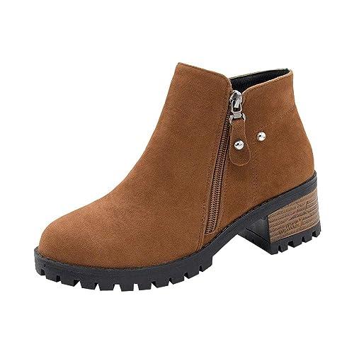 Botines para Mujer K-youth Botas Mujer Invierno Zapatos ...