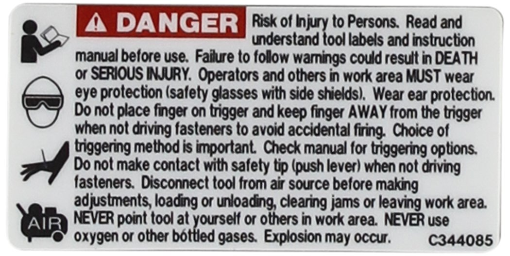 Hitachi 888143 Warning Label Replacement Part
