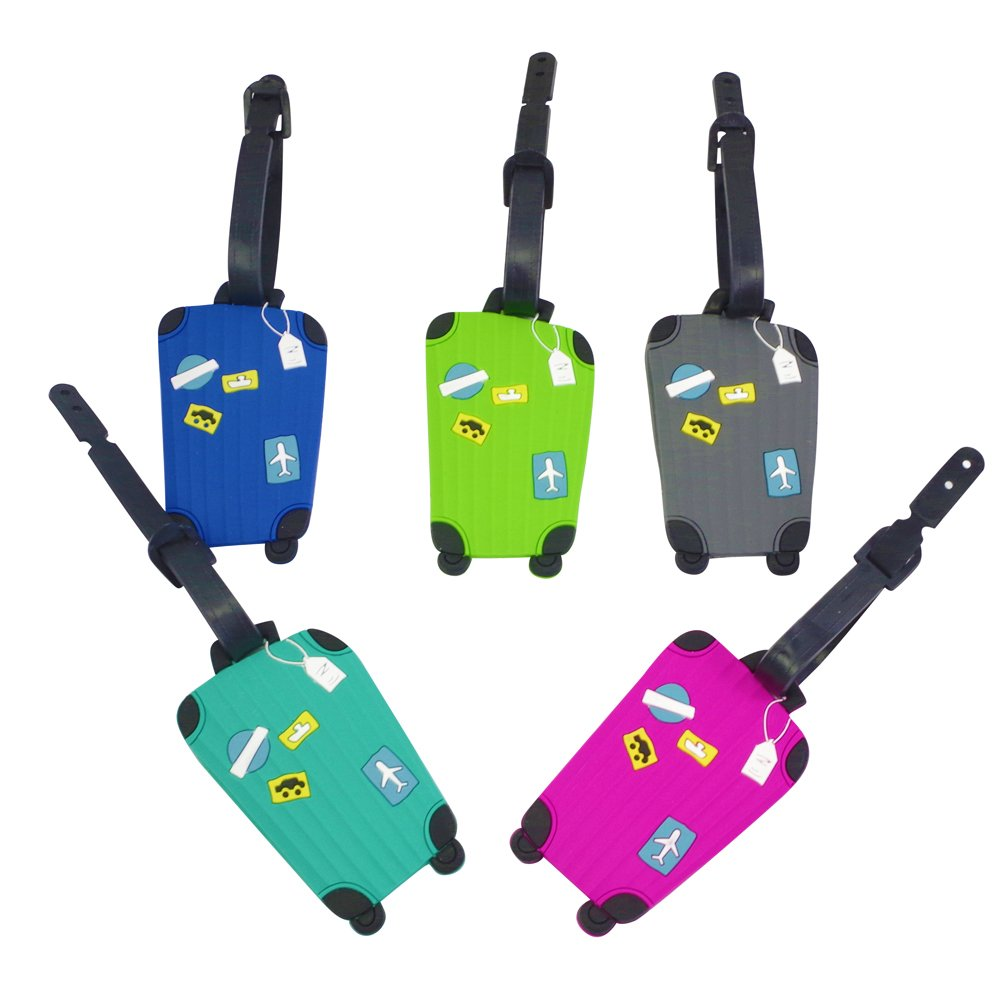 Annle 5PCS Luggage tag - Suitcase Labe - Travel ID Bag Tag (Color A) étiquettes à bagages