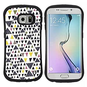 "Hypernova Slim Fit Dual Barniz Protector Caso Case Funda Para Samsung Galaxy S6 EDGE [Geométrico Triángulo del Arte""]"