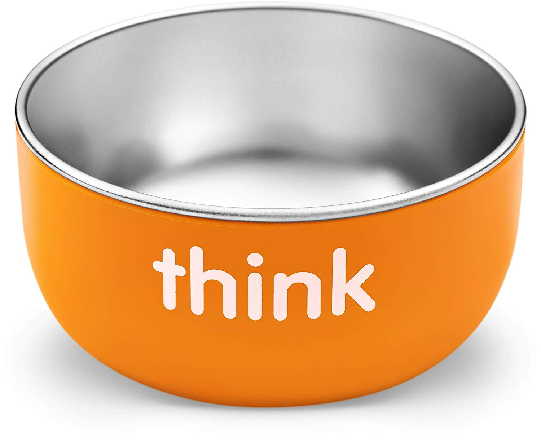 Thinkbaby High Rise BPA Free Baby Bowl (Orange)