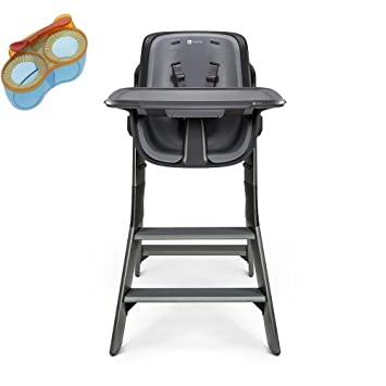 Amazon.com : 4moms High Chair, Black/Grey With Divided Feeding Bowl : Baby