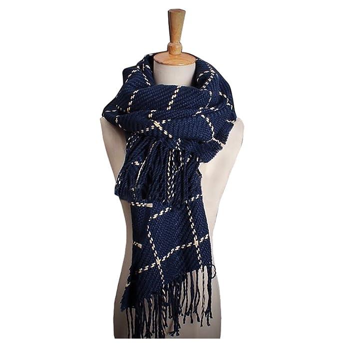 Locura® Bufanda - Otoño y invierno 2017 - Moda Unisex - Bufanda Azul ...