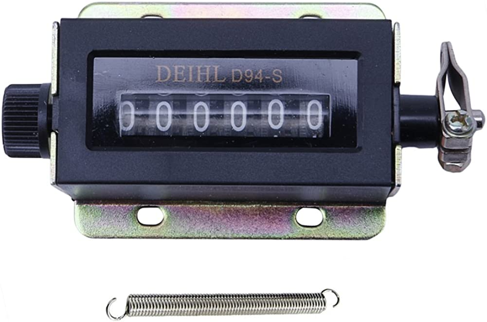 Reinly 0-999999 6 Digit D94-S Resettable Mechanical Pulling Count Counter